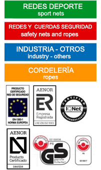 Redes Benimeli - Garantía de Calidad - Norma Aenor, Certificado BG Pruf, IQNet, Aidico